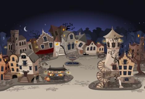 Miasto nocą – ilustracja