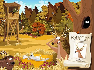 ilustracje edukacyjne lasy