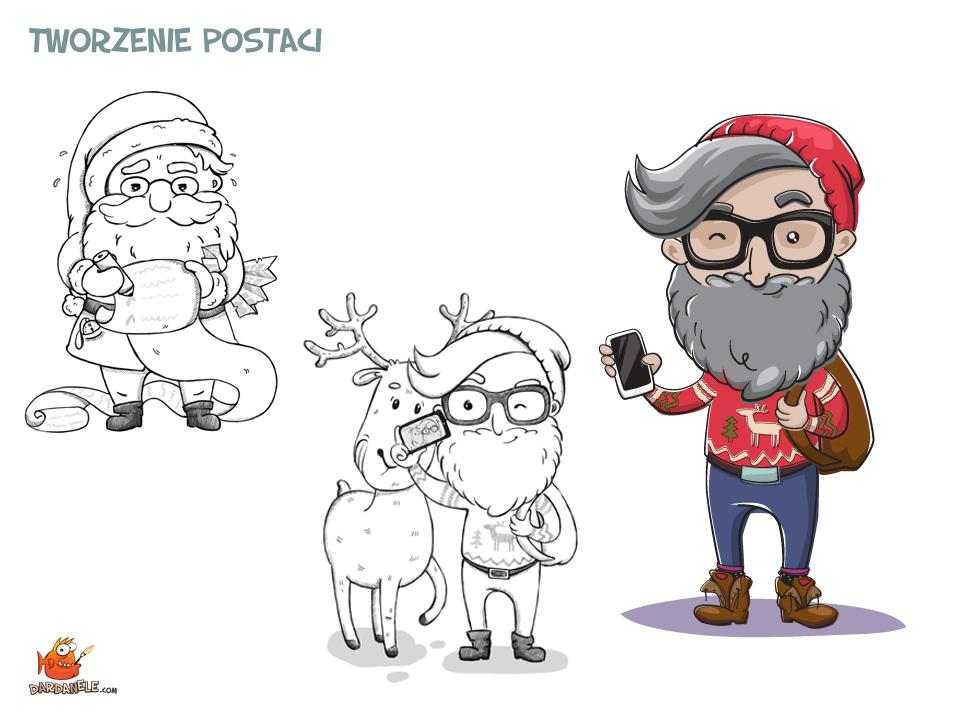 koncept-postaci-mikolaj-hipster