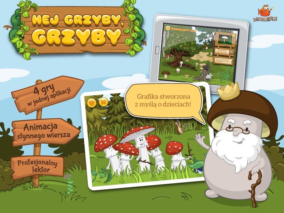 aplikacja edukacyjna - Grzyby - plansza głowna ilustracje